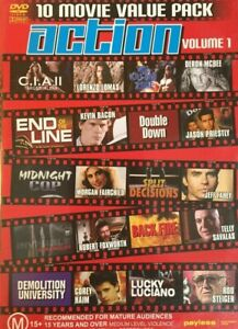 Action Movies DVD 10 movie value pack - 80's 90's 2000's B-Grade Action Films