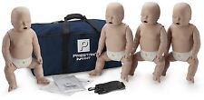 Prestan AED CPR Training Manikins w Mon 4 Pack INFANT Medium Skin PP-IM-400M-MS