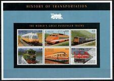 St Vincent Gr 1995 MNH SS, Passenger Train, Railways, Locomotives