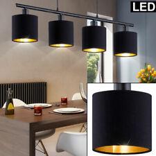 Lampe Suspendue LED Cuisine Tissu Luminaire Plafond Lumière de Spots or Noir
