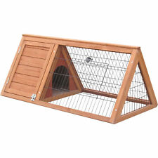 Deluxe Apex Rabbit Hutch with Run - Ideal for Rabbits, Ferrets & Guinea Pigs