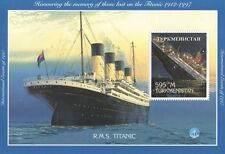 RMS TITANIC WHITE STAR LINE OCEAN DISASTER TURKMENISTAN 1997 MNH STAMP SHEETLET