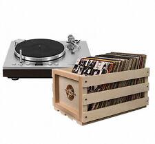 Vinyl Record Storage LP Crate Album Box Holder Vintage Case Records Display