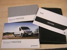 RENAULT MASTER  OWNERS MANUAL HANDBOOK WALLET  2012-2016  SERVICE BOOK &