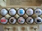 Lot XVI Konvolut 10 verschiedene Golfbälle mit Logo Schwerpunkt AT-Motive