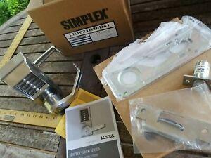 SIMPLEX Mechanical Push Button Lockset, Lever,  Entry  Override,LL1021C26D