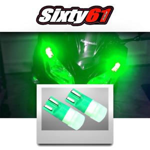 Motorcycle LED Side Marker Light Parking Bulbs Green for Kawasaki Ninja