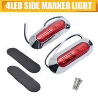 12V / 4 LED Lampara luces de marcador lateral para remolque camion coche 2x