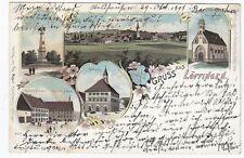 Vor 1914 Normalformat Lithographien aus Baden-Württemberg