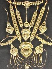 Bollywood Indian Jewelry Jodha Akbar Gold Bridal Necklace set 9 Pcs ~ Free Bindi