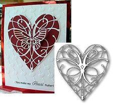 Memory Box dies LA RUE HEART 98233 metal cutting die Wedding Valentine's Love