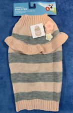 Vibrant Life Dog Peach Gray Sweater Pet Apparel Size Small Dogs 10-20 Pounds NWT