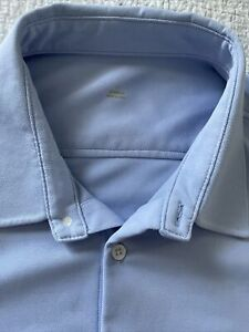 Ministry of Supply XL BLUE Men's Apollo Performance LONG SLEEVES Dress Shirt