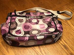 Purple/ Pink Coach Diaper Bag