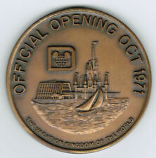 A Rare Original Walt Disney World Official Opening Oct 1971 Medallion LE #1814