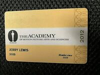 """JERRY LEWIS' PERSONAL/(LY) OWNED 2012  AMPAS (""""OSCARS"""") ACADEMY MEMBERSHIP CARD"""