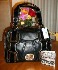KATHY VAN ZEELAND BLACK FOUR EYES LARGE SATCHEL- MSRP $115-HARD TO FIND BAG-NWT