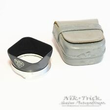 Rollei Genuine Lens Hood for Rolleiflex 4x4 Baby Grey in Leather Case