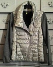 Xersion Pearlized/Gray Puffer Jacket Size Small Asymmetrical Thumb Holes  $64