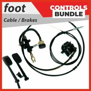 Foot controls kit - Bundle pack #1 Pedals Hydraulic foot brake Go kart Buggy #A1