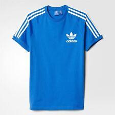 adidas ORIGINALS CALIFORNIA T SHIRT MEN'S BLUEBIRD TEE 3 STRIPES WHITE TREFOIL