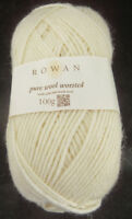 100 g Rowan Pure Wool Worsted, Fb.102 Soft Cream - natur, Partie 3344--  #3587