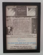 CATE BROS*In One Eye Out Other*1976*RARE*ORIGINAL*A4*ADVERT*FRAMED*FAST SHIPPING