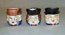 Vintage: Set of 3 - MINI TOBY MUGS - Made in Japan Character Colonial Faces