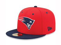 New Era 59Fifty Cap Mens NFL New England Patriots Red Navy Blue Fitted 5950 Hat