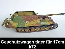 Pro Built- SUPER gebaut geschützwagen tiger für 17cm k72 1/35