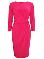 Debenhams Sz 16,18,20,22 Pink Stretch Jersey Lined Dress Occasion Wedding Party