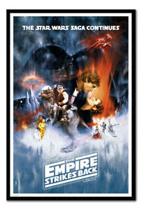 Framed Star Wars The Empire Strikes Back One Sheet Poster New