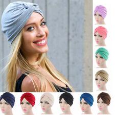 Women Stretchy Turban Head Wrap Band Sleep Hat Indian Caps Scarf Hats Ear Cap