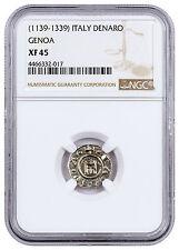 1139-1339 Italy, Republic of Genoa Silver Denaro NGC XF45 SKU45802