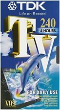 TDK E240 VHS Blank Tapes (New+Sealed)