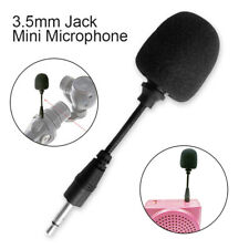 Flexible 3.5mm Jack Mono Mini Microphone Mic PC Phone Laptop Notebook Tool