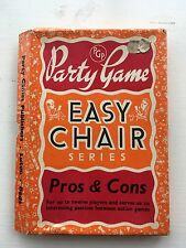PARTY GAMES EASY CHAIR SERIES PROS & CONS AND MUDDLED WORDS VINTAGE