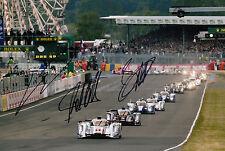Lotterer, Duval, Treluyer Hand Signed Audi Sport Team Joest 12x8 Photo Le Mans 2