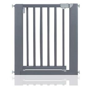 Safetots Pressure Fit Wooden Premium Grade Grey Wood Baby Gate 74-81cm