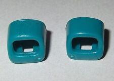 18714, 2x Schwert- Halterung (für Gürtel, Kragen, Gurt), blaugrün