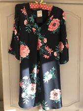 Pomodoro Viscos Oriental Tunic Dress New With Tags Size 10