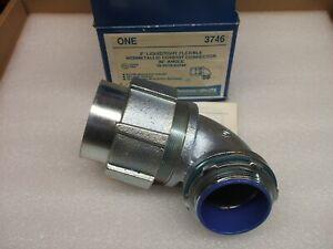 "Thomas & Betts 3746 2"" Liquidtight Flexible Nonmetallic 90 Degree Connector New"