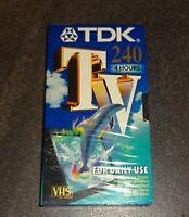 VHS TDK Tv 240 Video Kassette TAPE SEALED NEU & OVP TOP