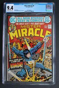 MISTER MIRACLE #9 ORIGIN Scott Free 1972 1st Himon AURELIE Female Furies CGC 9.4