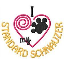"""I """"Heart"""" My Standard Schnauzer Ladies Fleece Jacket 1448-2 Size S - Xxl"""