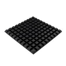 Cuadrado 100x Pies de Goma Negro auto-adhesivo Pie Agarre Fuerte 12.7 X 6MM RF02
