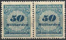 Korbdeckel MiNr. 330AP Paar mit Handbuchplattenfehler PE3 und anderem postfrisch