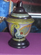 Antique Gouda Monda Holland Art Deco Pottery 1925 Inkwell Pen Holder