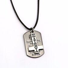 Death Note Collier Pendentif Métal Dog Tag Logo & Croix