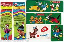 6 Stück alte Kaugummi Bilder OK Combi Bunterlei Donald Duck     RAR  ( 102578